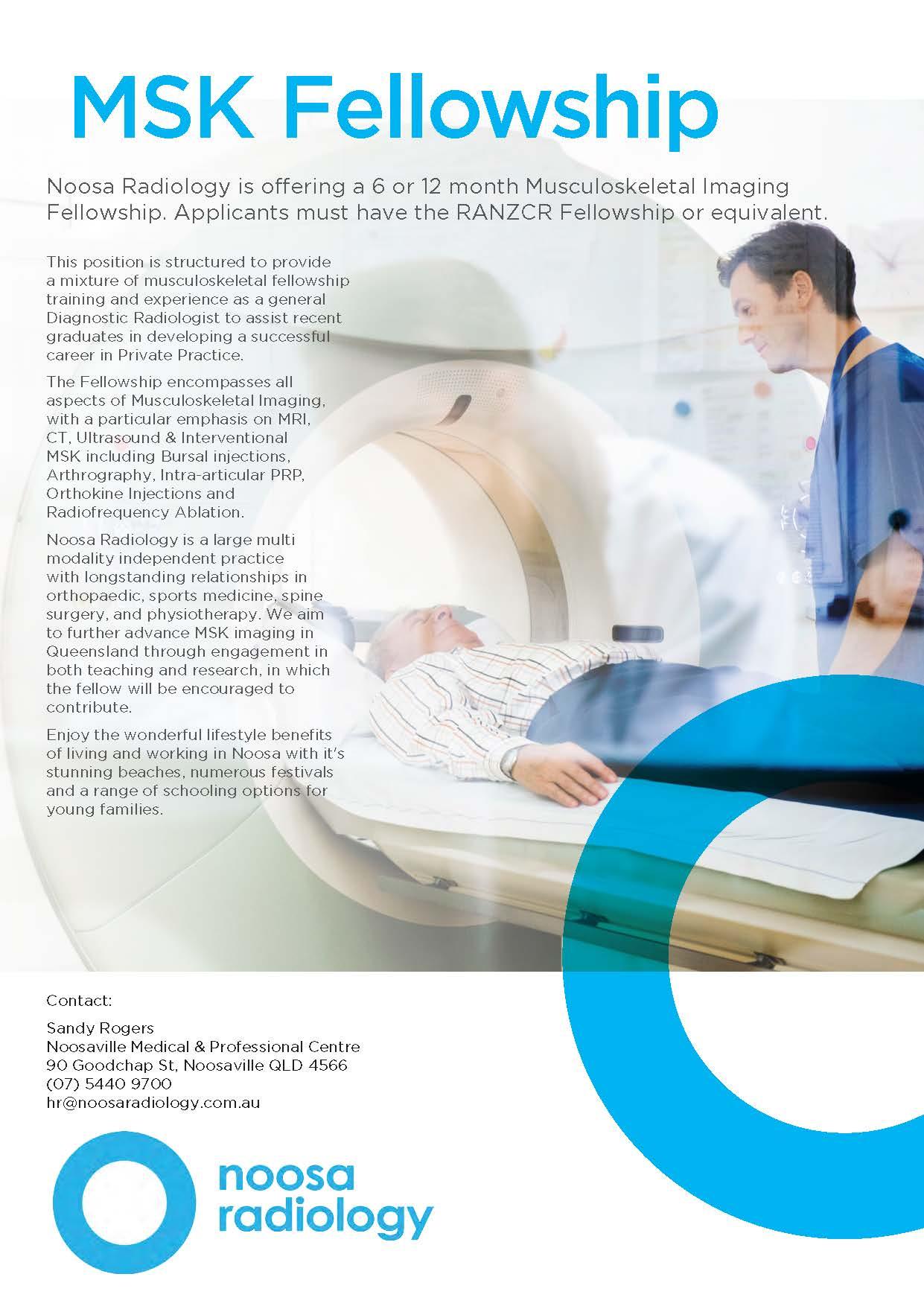 Musculoskeletal Fellowship - Noosa Radiology